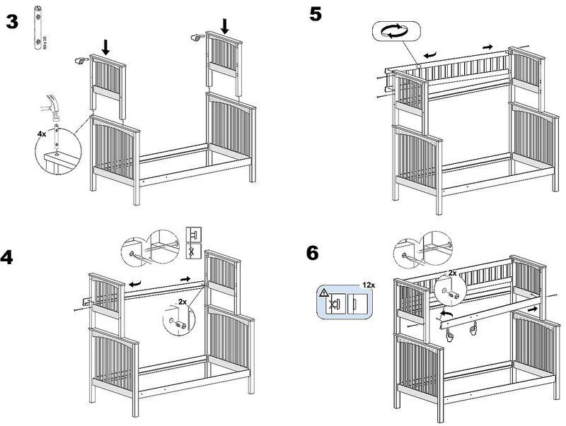 Как Собрать Двухъярусную Кровать С Диваном Инструкция